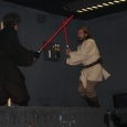Obi-Wan and Anankin in battle