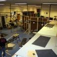 building in progress on Death Star set