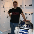 Daz with R2-D2 on set